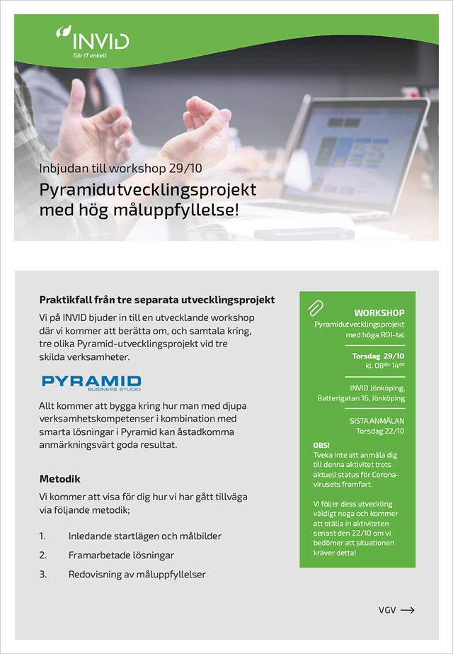 20201029 - Workshop - Pyramidutvecklingsprojekt